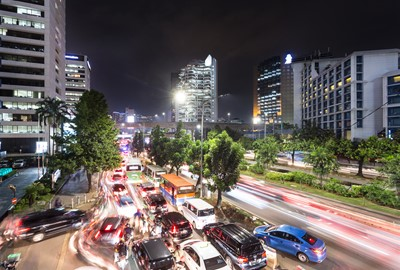 殉情ではないジャカルタの交通渋滞