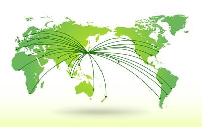 全ての国に対応できる世界的ネットワークを確立